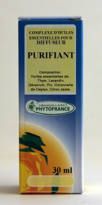 Le mélange pour diffuseur purifiant: des huiles huiles essentielles bactéricides et un parfum agréable