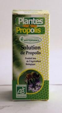 La solution de propolis est un excellent vecteur des huiles essentielles