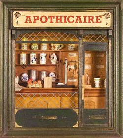les apothicaires, ancêtres des pharmaciens et herboristes