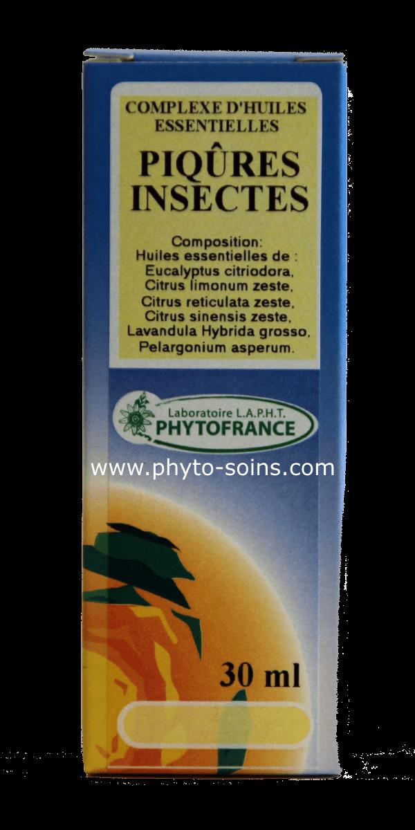 Complexe d'huiles essentielles pour soulager les piqures d'insectes