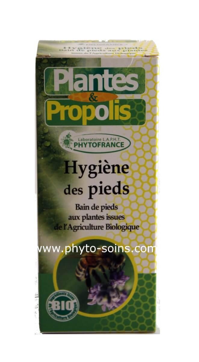 Hygiène des pieds: bain de pieds à la propolis