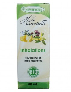 Complexe d'huiles essentielles BIO inhalation (sinusite, rhume...)