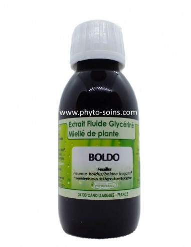 Extrait fluide glycériné miellé de Boldo BIO Phytofrance | phyto-soins