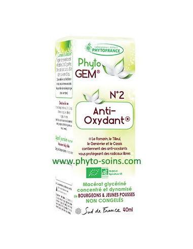 Phyto'gem 2 anti-oxydant laboratoire phytofrance | phyto-soins