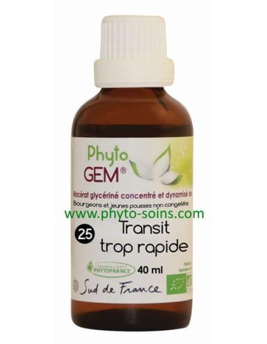 Phyto'gem BIO n°25 transit trop rapide laboratoire phytofrance | phyto-soins
