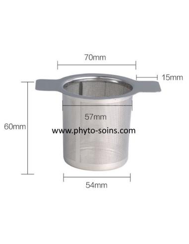 Filtre tisane réutilisable en inox | phyto-soins