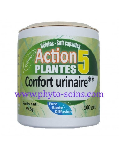 Gélules action 5 plantes confort urinaire