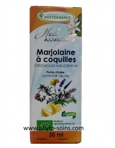 Huile essentielle de Marjolaine des jardins ou à coquille BIO