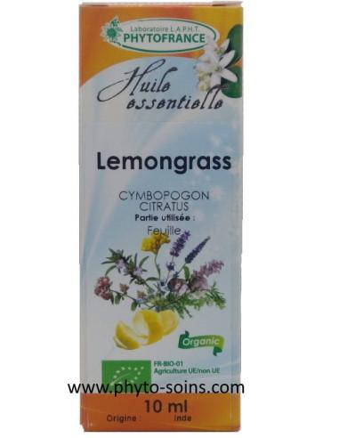 Huile essentielle de lemongrass BIO pure et naturelle