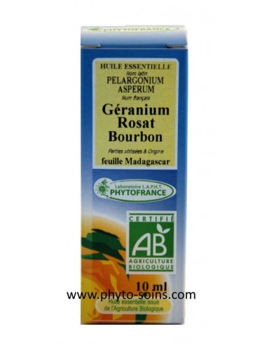 Huile essentielle de Geranium Rosat Bourbon BIo pure et naturelle
