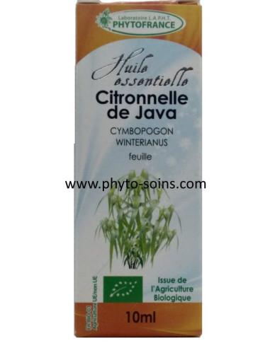 Huile essentielle de Citronnelle de Ceylan BIO, pure et naturelle