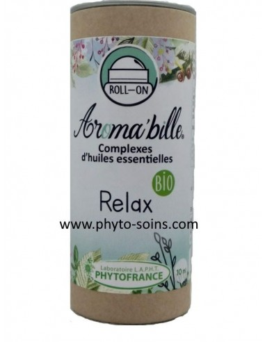 aroma bille relax: huiles essentielles anti-stress avec applicateur bille