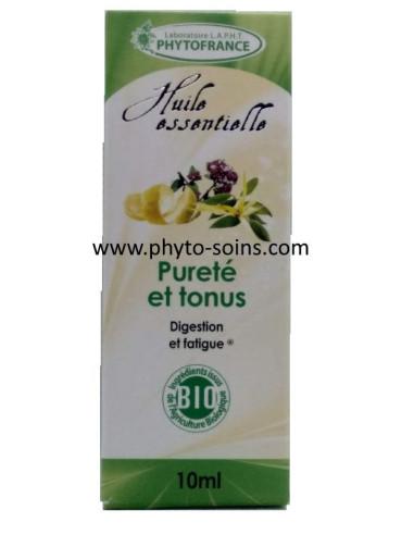 """complexe d'huiles essentielles """"purete et tonus"""" BIO"""