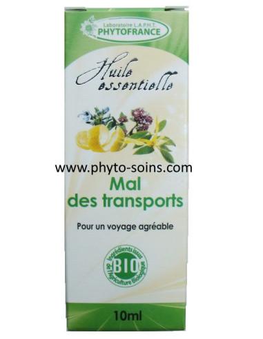 "complexe d'huiles essentielles BIO ""mal des transports"""