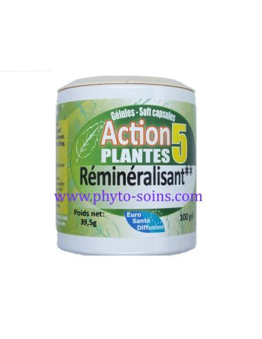 Gélules action 5 plantes Reminéralisant