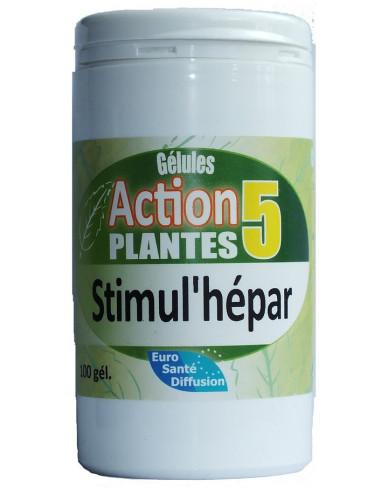 Gélules action 5 plantes stimul'hépar