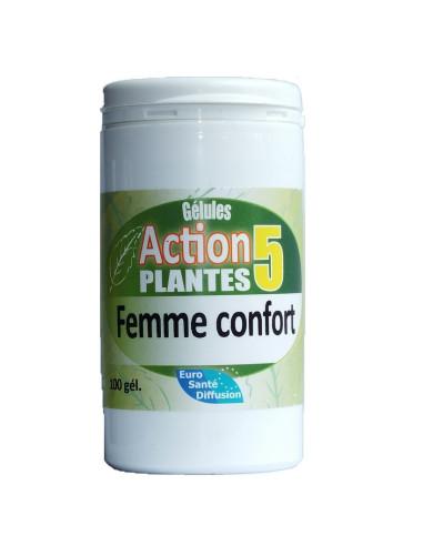 Gélules action 5 plantes femme confort