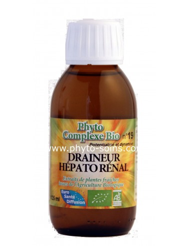 Phyto-complexe n°19 draineur hépato rénal laboratoire phytofrance | phyto-soins