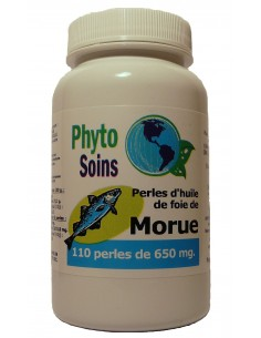 110 Capsules d'huile de foie de morue cure d'1 mois