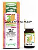 Huiles essentielles 3D: antiviral naturel (anti'vir 10.02) flacon