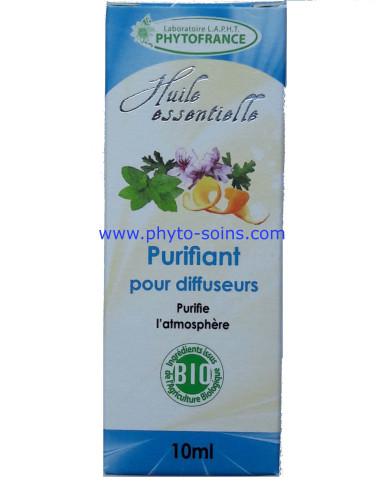 mélange d'huiles essentielles BIO purifiant pour diffuseur