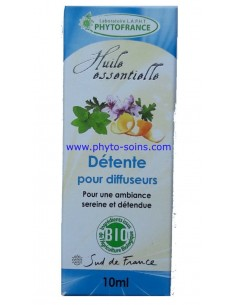 mélange d'huiles essentielles BIO détente pour diffuseur