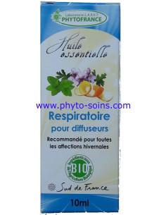 mélange d'huiles essentielle BIO respiratoire pour diffuseur