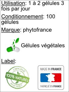 Utilisation gélules action 5 plantes phyto-soins